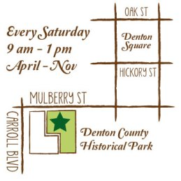 map of Denton Community Market